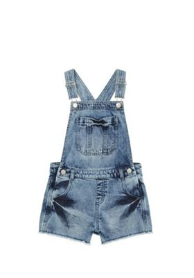 F&F Denim Dungarees Acid Wash 7-8 years
