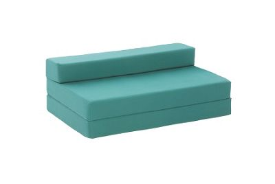 Comfy Living Childrens Double Cotton Sofa Bed in Glade Green