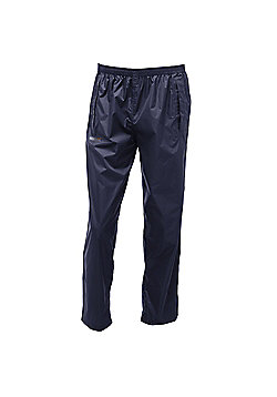 Regatta Mens Pack It Waterproof Overtrousers - Navy