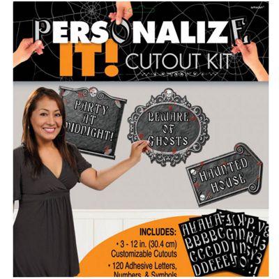 Halloween Personalisable Gothic Cutouts - 30.4cm (3pk)