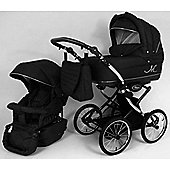 DaVos Classic ML Retro 2 in 1 Pushchair (Black)