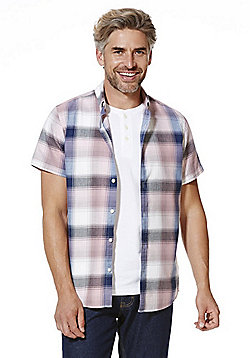 F&F Grandad T-Shirt and Checked Shirt Set - Pink