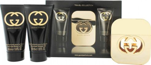 Gucci Guilty for Her Gift Set 50ml EDT + 50ml Body Lotion + 50ml Shower Gel - Travel Collection For Women