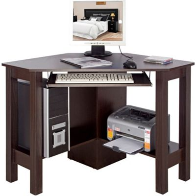 Horner Corner Office Desk Computer Workstation Walnut