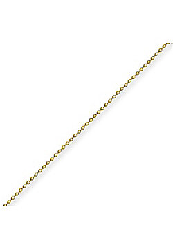 9ct Yellow Gold Ball Chain - 0.9mm gauge - 20 inch