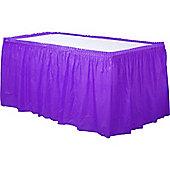 Purple Plastic Tableskirt - 73cm x 4.2m