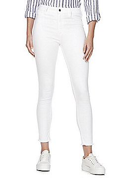 F&F Push-Up Ankle Grazer Skinny Jeans - White