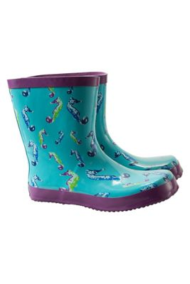 Mountain Warehouse Steve Backshall Seahorse Kids Wellies ( Size: 01 Child )