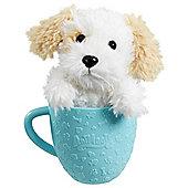 AniMagic-Teacup Pets- White Dog - Blue Cup