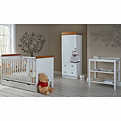 OBaby Winnie the Pooh Single 4pc Room Set (White)