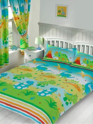 Roar Like a Dinosaur Double Duvet Cover and Pillowcase Set