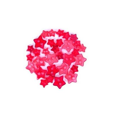 Impex Red Transparent Star Mini Buttons