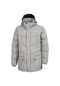 Trespass Mens Cumulus Insulated Coat - Beige