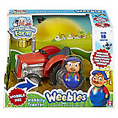 Weebles Weebledown Farm Wobbly Tractor & Farmer