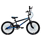 "Tiger UCX2 20"" Alloy Wheel 10"" Hi-Ten Frame BMX Bike Black/Blue"