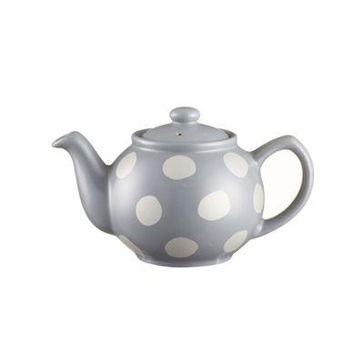 Price & Kensington 2 Cup Teapot, Spot Design, 450 ml (Grey)