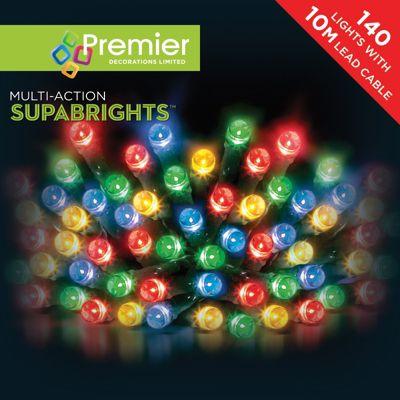 Premier 140 Multi Action Supabright Multi Colour LED Lights