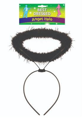 Black Angel/ Devil Feather Halo Headband Halloween Fancy Dress Accessory