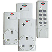 Brennenstuhl Remote Control Set - Three Sockets