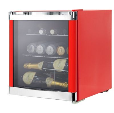 Russell Hobbs RHGWC1R, Glass Door Cooler, Red