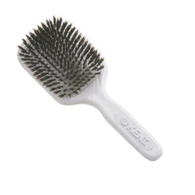 Kent Medium Pure Bristle Cushioned Base Hair Brush - AH13 White