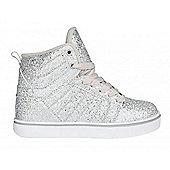 Heelys Uptown Silver/Disco/Glitter Kids Heely Shoe - Silver