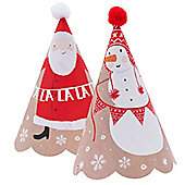 6 Pack Santa and Friends Party Hats