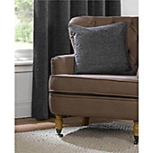 Rapport Yale Charcoal Chenille Cushion Cover - 45x45cm