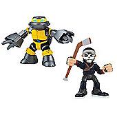 Teenage Mutant Ninja Turtles Half-Shell Heroes Casey Jones and Metalhead Figures Double Pack