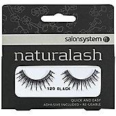 Salon System Naturalash Re-Usable Black 120 Lashes