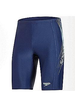 Speedo Sports Logo Mens Swimming Pool Water Jammer Short Navy - Navy blue