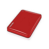 Toshiba Canvio Connect II 1TB 2.5 External Hard Drive - Red