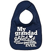 Dirty Fingers My Grandad is the Greatest Baby Bib Navy