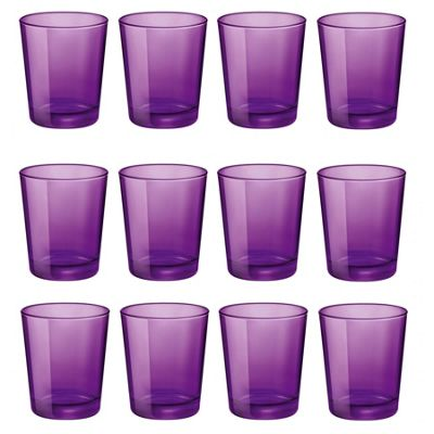 Bormioli Rocco Castore Coloured Glass Drinking Tumblers - Purple - 300ml - Pack of 12