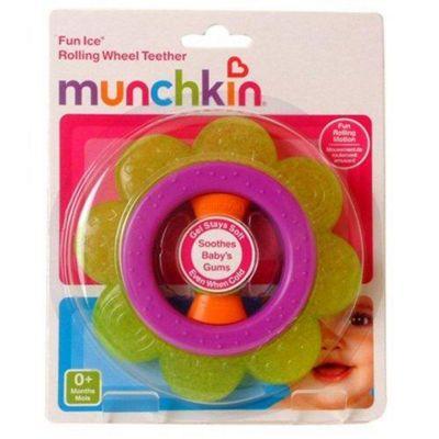 Munchkin Rolling Wheel Teether Purple and Green