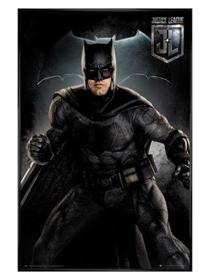 Justice League of America Gloss Black Framed Batman Solo Poster 61x91.5cm