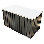 4ft x 2ft Premier Grey Metal Storage Box (1.28m x 0.68m)
