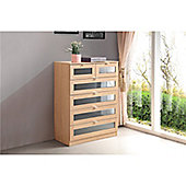 Monza 4+2 Drawer Chest of Drawers - Grey & Oak