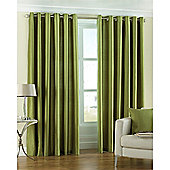 Riva Home Fiji Faux Silk Eyelet Curtains - Green