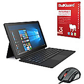 """Linx 12X64 12.5"""" Widescreen Full HD 2 in 1 Tablet Intel Atom Quad Core 4GB 64GB Win 10 with Detachable keyboard Cover, Internet Security & Mouse"""