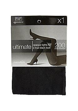 F&F Signature 200 Denier Ultimate Opaque Tights - Black