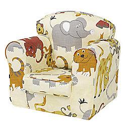 Children's Single Sofa Chair - Jungle Party