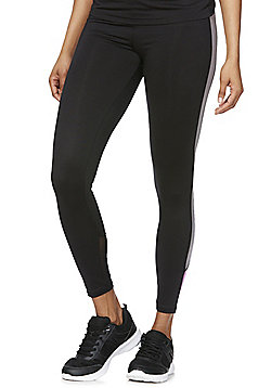 F&F Active Side Stripe Ankle Grazer Leggings - Black