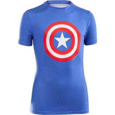 Under Armour Mens Alter Ego Compression Short Sleeve T-Shirt Captain America XL