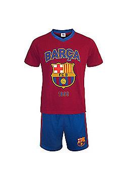 FC Barcelona Mens Short Pyjamas - Red