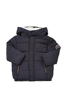 F&F Hooded Puffer Coat - Navy