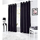 Alan Symonds Velvet Eyelet Curtains - Black