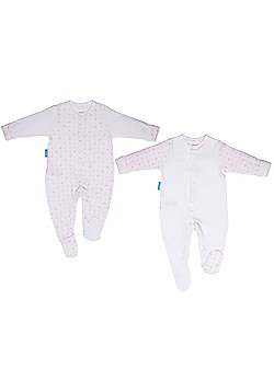 Grobag Twin Pack Pink Hearts Gro-Suit (0-3 Months)
