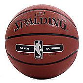 Spalding NBA Silver Copmposite Rubber Outdoor Basketball Brown - 5
