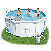 "Bestway Hydrium Poseidon Steel Pool Package 12ft x 48"" - 56285"